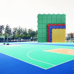 Cheap Outdoor Interlocking PP Sport Basketball Court Flooring Tiles Mat Paint Basketball Court