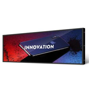 Refee bar type lcd display monitor screen signage shelf edge lcd display digital signage stretched