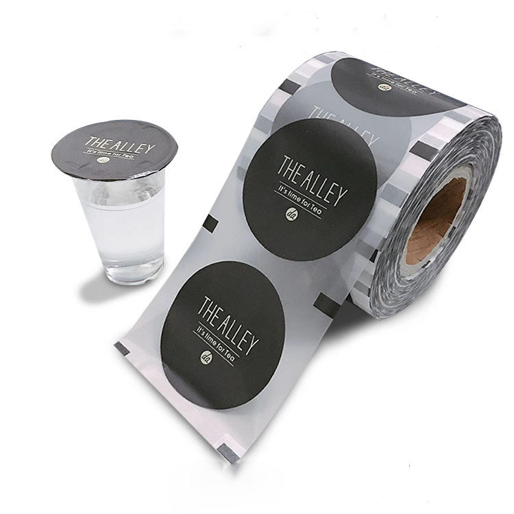 Custom printed disposable plastic bubble tea cup sealing film