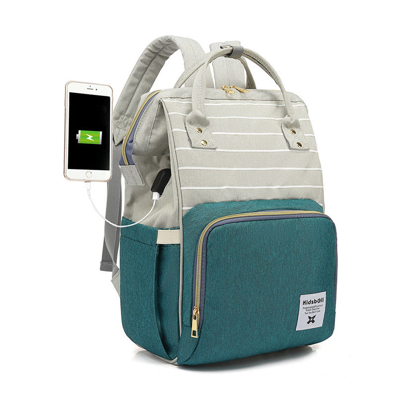 OEM Factory custom Waterproof 5 in 1 diaper bag