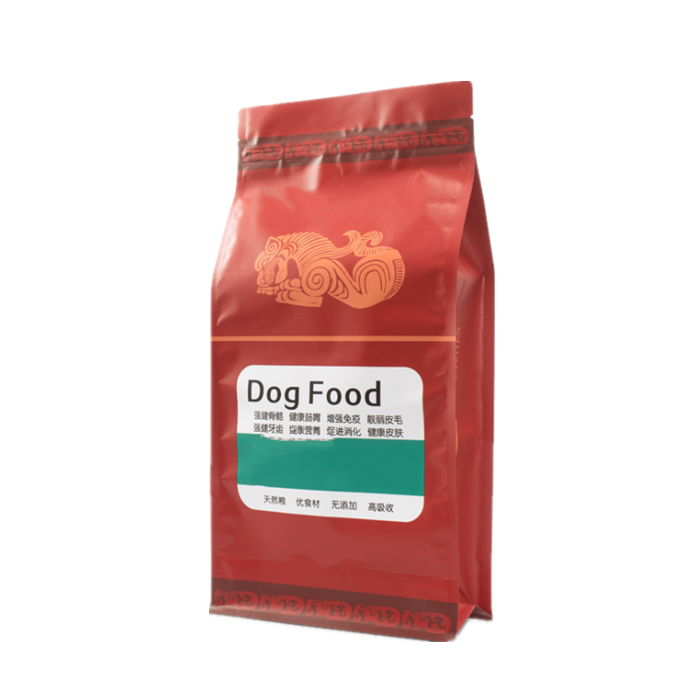 Inexpensive Custom Printed Resealable Zip lock Stand Up Plastic Dog Food Bag With Window