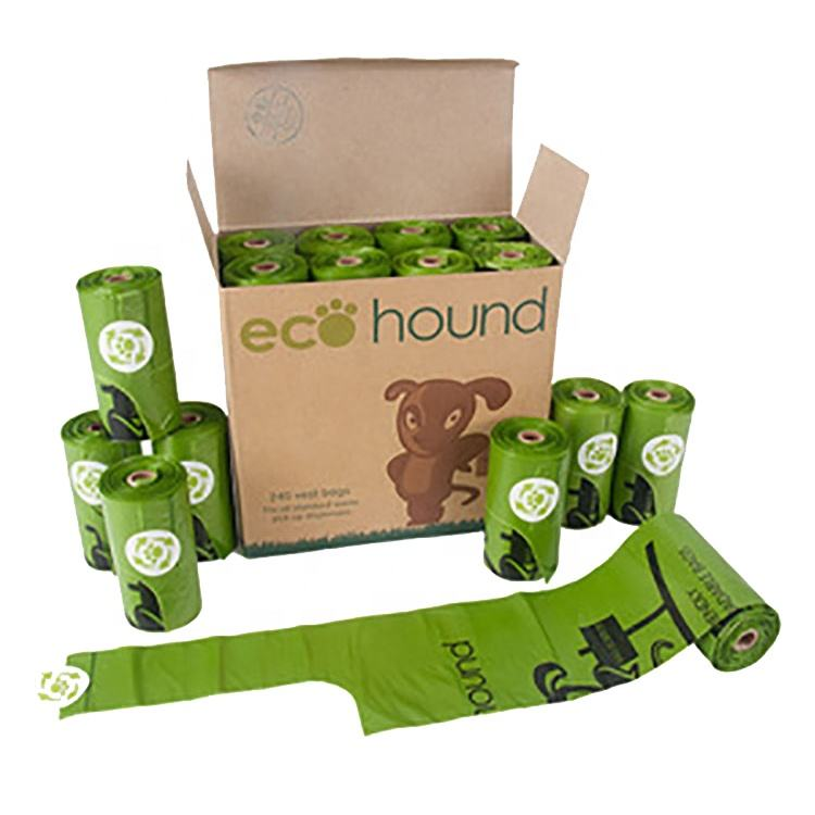 Customized Biodegradable Compostable Disposable dog poop Bag