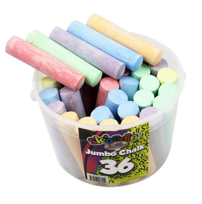 Colored chalk with bucket packing for kids and school teaching and writing