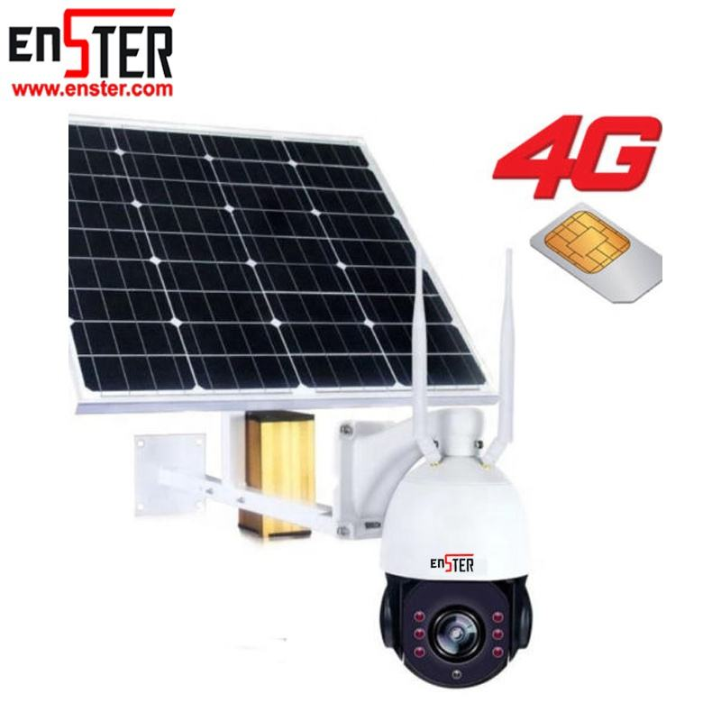 HD 1080P PTZ Solar Panel Powered Wifi Wireless Security 3G 4G Lte Cctv Camera Solar Energy Systems