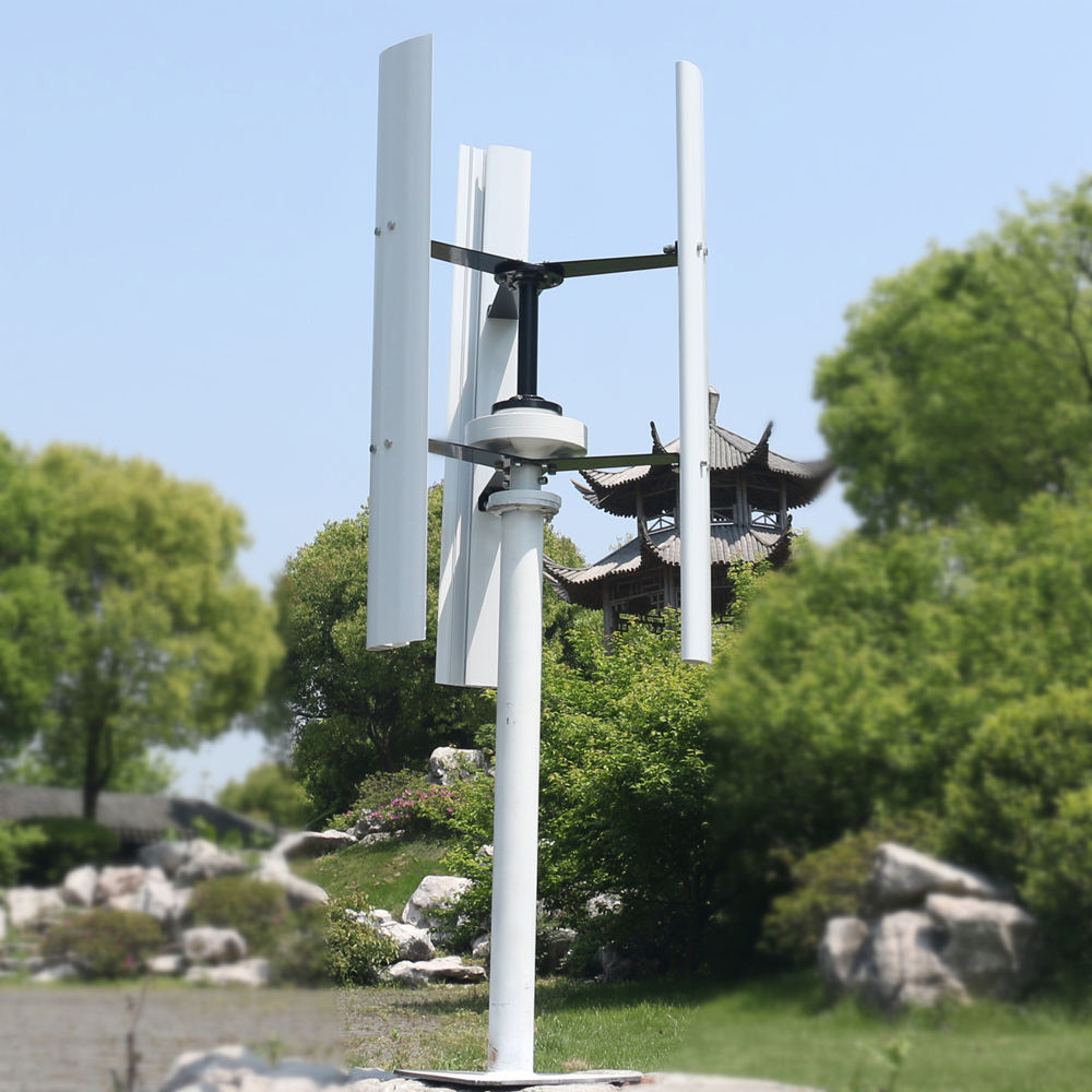 Quiet Small Vertical Wind Turbine 300W For Land And Marine Low RPM Windmill Generator