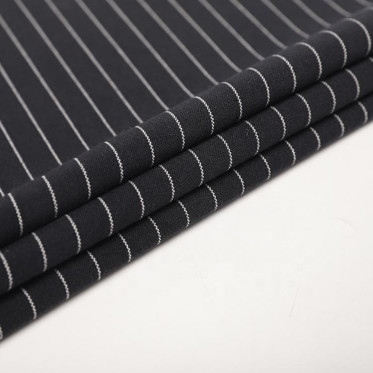 Hot selling stripe yarn dyed woven polyester spandex dresses fabric