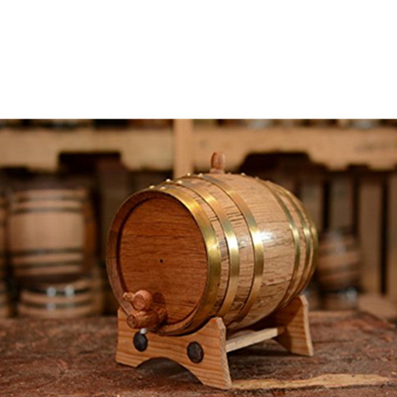 Oak [ Oak Barrel ] Barrel Barrel Wooden Barrel High Quality 2 Liters Handcrafted Using American Oak Aging Whiskey Beer Wine Wooden Barrel For Wine