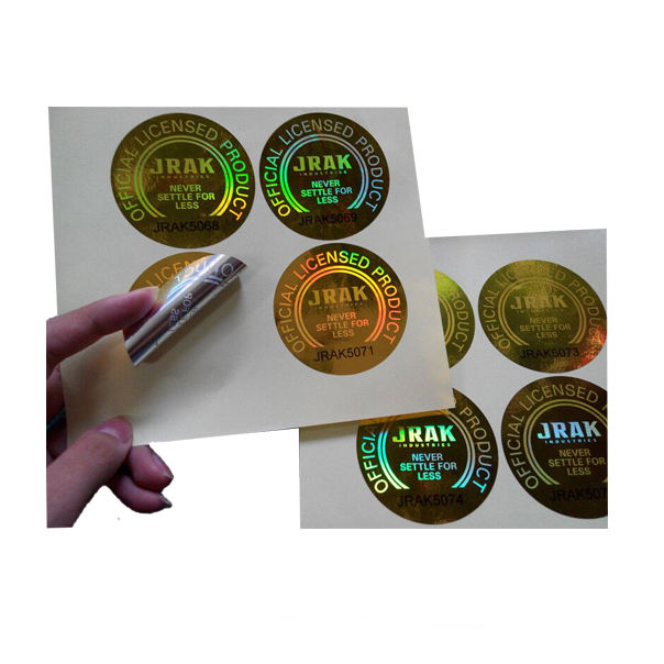 Custom design secure label packaging / shining 3D hologram label / adhesive hologram sticker