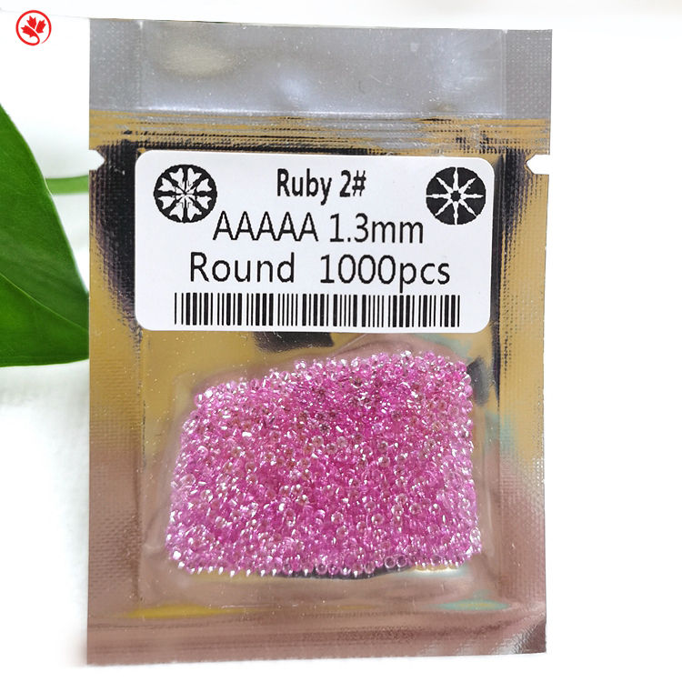 China precious AAAAA loosegemstone corundum synthetic ruby 2# stone prices