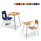 School Desks Chairs School Custom Color Meeting Room School Classroom Furniture Student Desks And Chairs With Book Rack