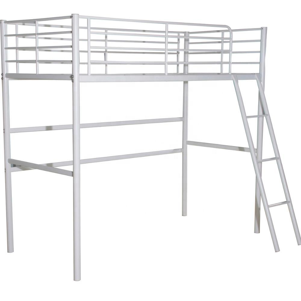 Metal design easy installation military white bunk beds adapt with department