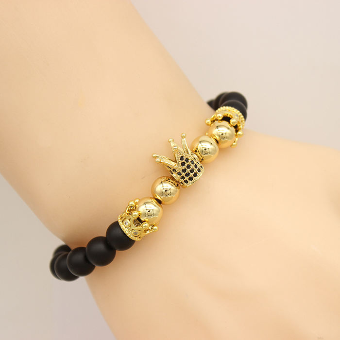 Bead [ Cooper Bracelets ] Dropship Bracelet Dropshipping Luxury Royal Zircon Crown Charm Cooper Beads Jewelry Bracelets