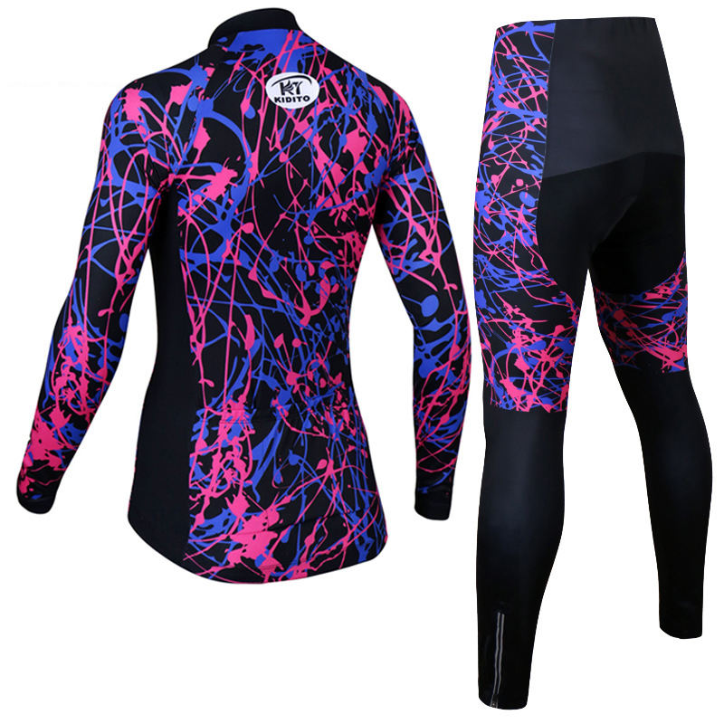 Womens Cycling Wear Set Short Sleeve Triathlon Suit Mountain Bike Jersey Woman Anti-UV Maillot MTB Bicycle Uniforme