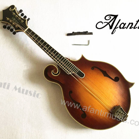 Afanti Solid Spruce /Solid Flamed maple F mandolin (AM-F85)