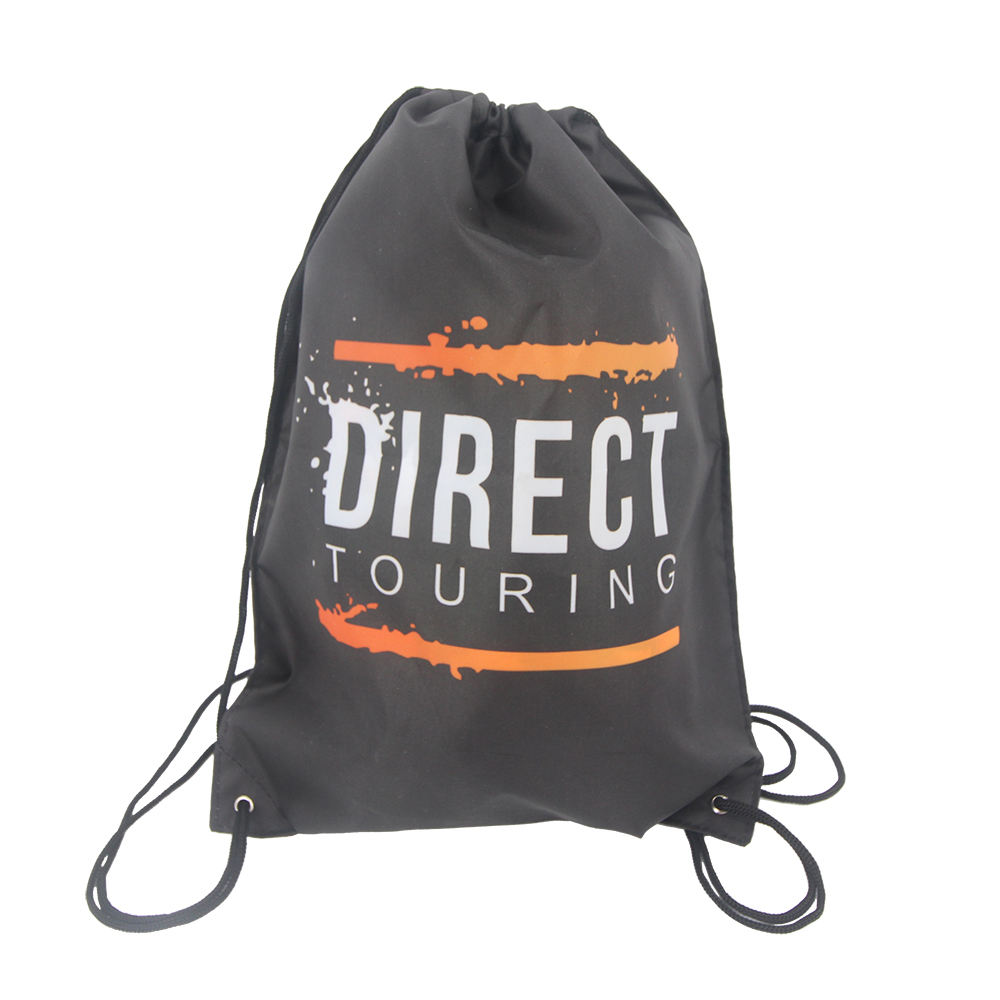 Fabric printing custom logo drawing string bag with double sided Printing
