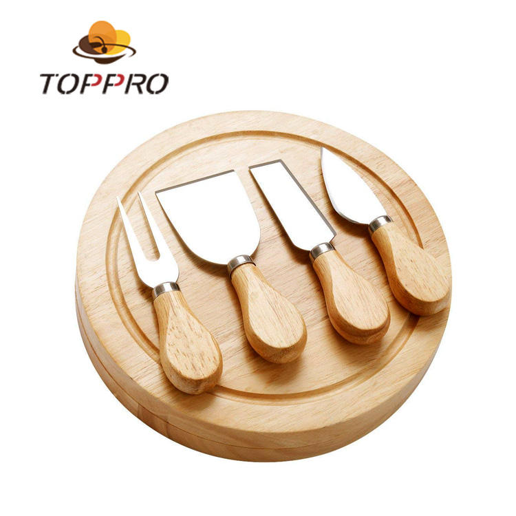 VISON heese Slicer Cutter Cutlery Set with Bamboo Handle stainless steel cheese knife set 2019