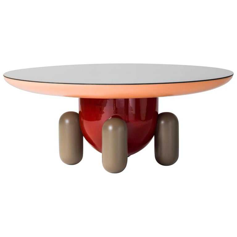 Multicolor Contemporary Explorer round coffee table