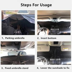 New Portable Summer Promotion Foldable Car Windscreen Windshield Sun Shade Umbrella  Car Sun Umbrella Block Heat UV