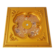 Luxury square ceiling medallion false ps ceiling designs for hall