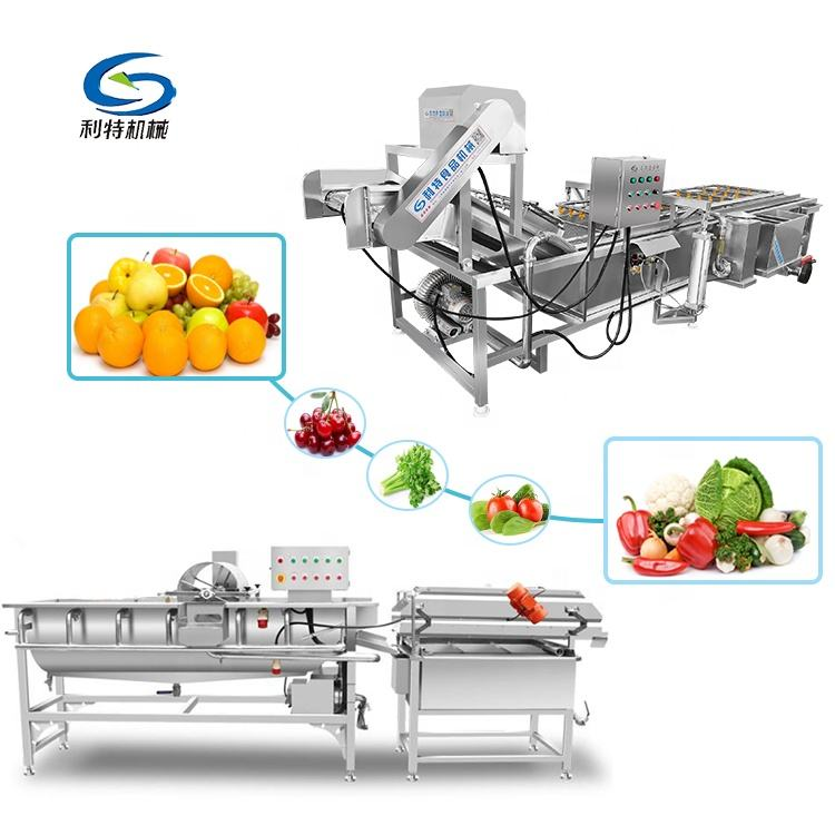 Fruit vegetable washer/Salad Laef Vegetables Processing Production Line