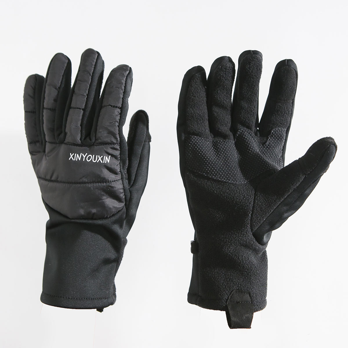 manufacturers fashion winter gloves black custom logo long mittens warm gloves