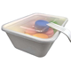 Eco-friendly Disposable 650ml Bagasse Container food container Microwaveable sushi tray