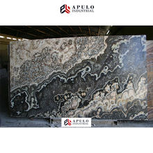 Luxury decorotion black onix low price black dragon marble onyx slabs stone floor tile