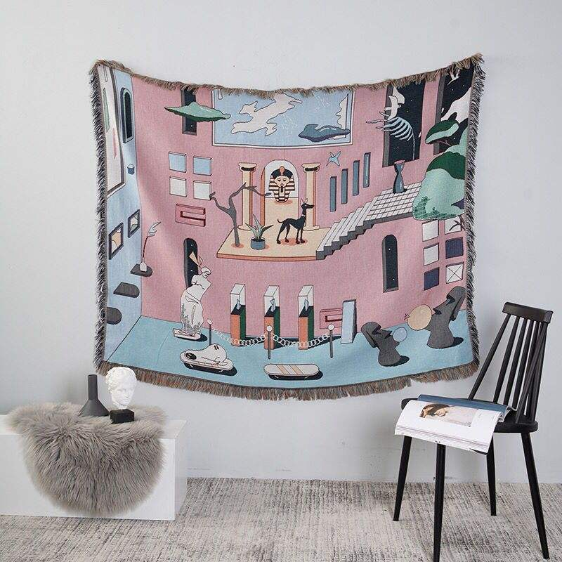 China supplier original design style beach towel woven tapestry