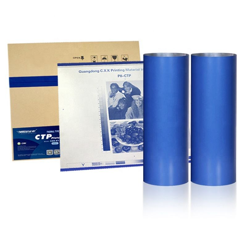 CXK-K1Bule Coating Convenient to Process Pre-heated Free Thermal CTP Plate for Offset Printing