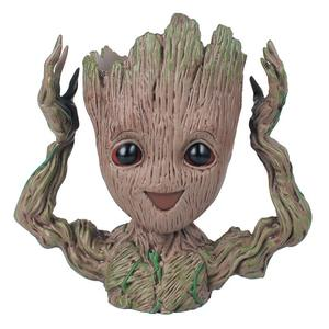 Hot Selling Flowerpot Treeman Baby Groot Succulent Planter Cute Green Plants Flower Pot