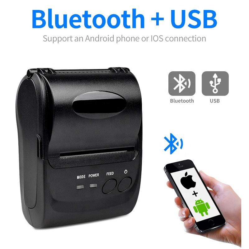 High Quality Portable 58mm handheld Thermal Receipt Printer for Mobile Phone Android iOS Windows
