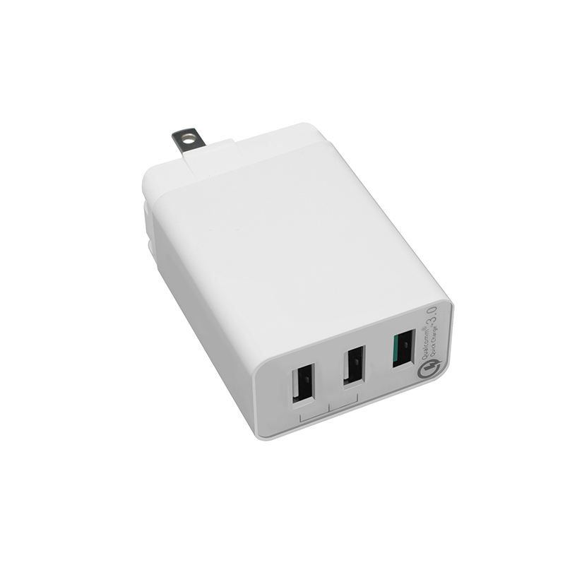 Sunshine QC 3.0 Cepat Pengisian Power Adapter Wall Charger 3 USB Port Charger dengan FCC CE Rosh