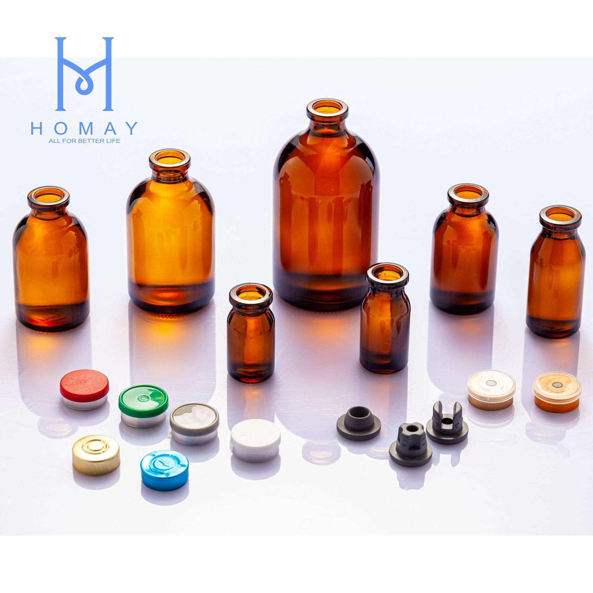 High Quality Amber Clear Molded Glass Vials For Injection USP TYPE I II III 5ml 7ml 8ml 10ml 15ml 20ml 30ml 50ml 100ml