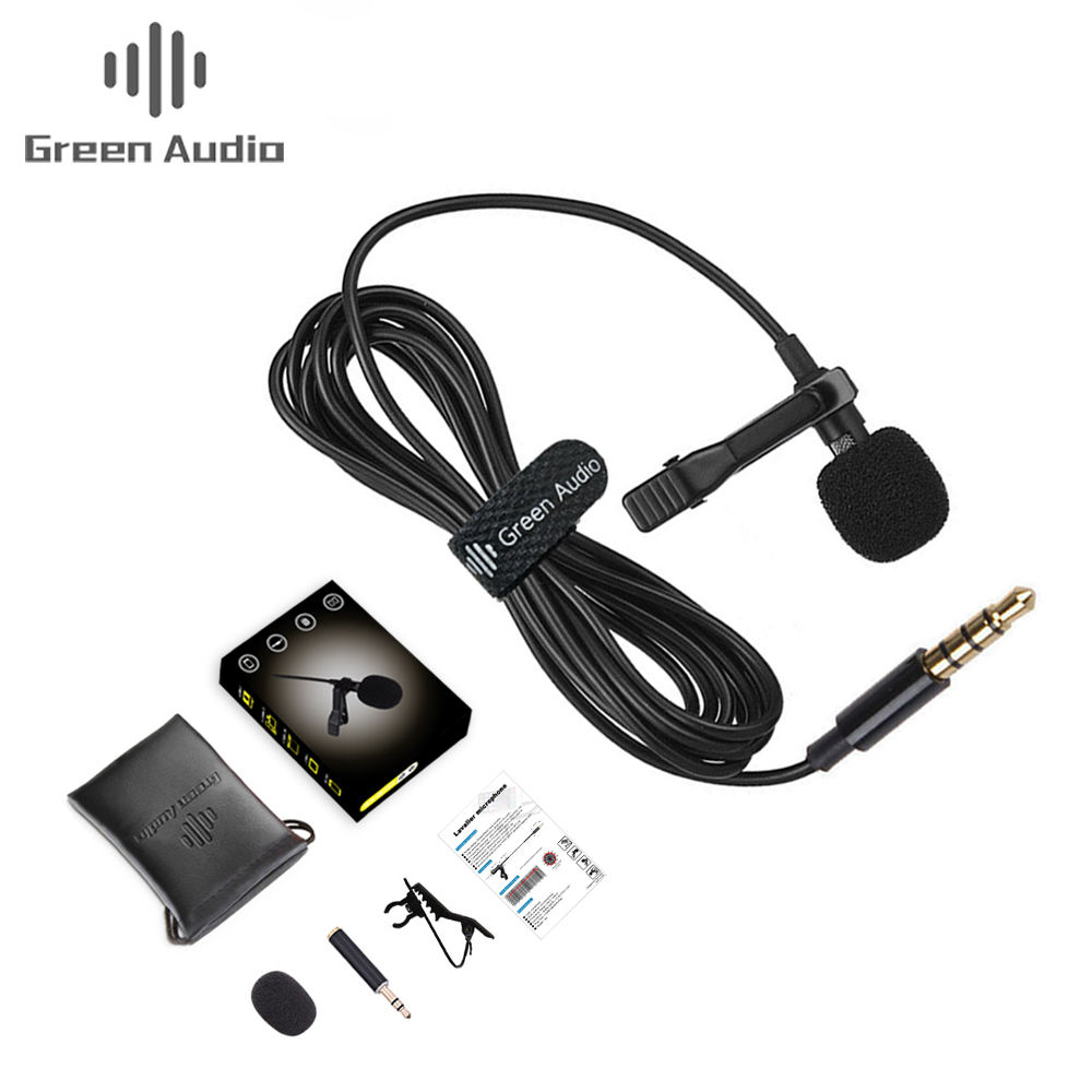 GAM-140 Lavalier Ve Áo Clip-On Omnidirectional Microphone TRRS 3.5 Mét Jack Condenser Mini Ghi Âm Mic Cho Apple iPhone