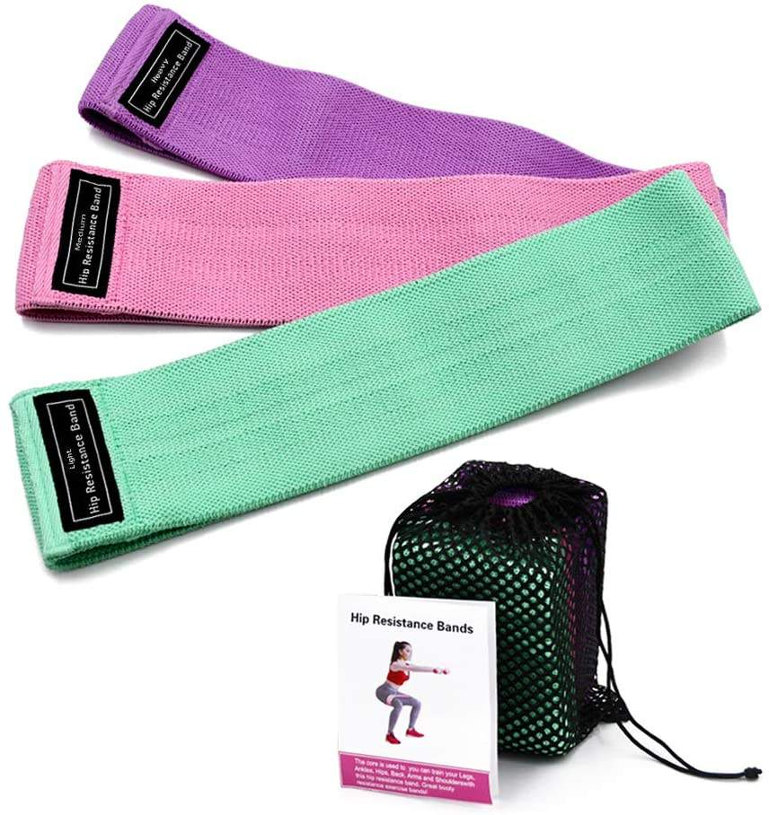 Variable resistance levels fabric cotton resistance band set