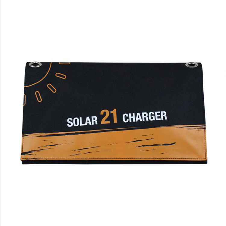 Good Quality 21W Sunpower folding solar panel dual USB wireless cell phone charger