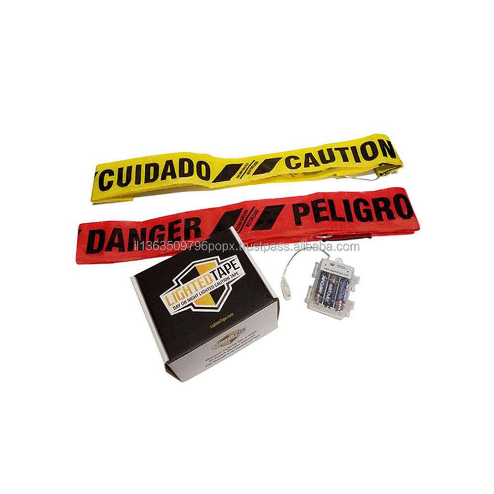 Eco - friendly good quality Lighted Danger Tape - REUSABLE