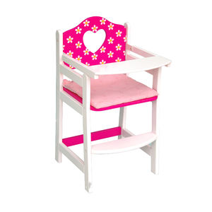 ISO9001new design child pretend toy doll baby dining chair and high chair doll baby feeding