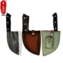 Free Shipping Full Tang Chef Knife Handmade Forged High-carbon Clad Steel Kitchen Knives Cleaver Slaughter Broad Butcher knife