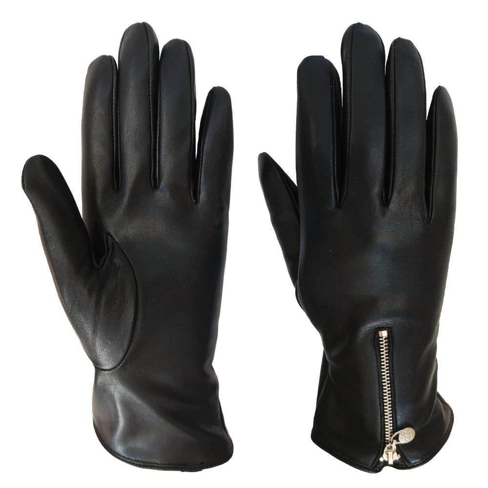 custom classics zipper winter women warm sex real sheepskin leather gloves