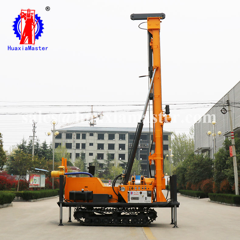 JDL-300 rock, soil drilling machine, air compressor power water drilling rig