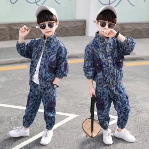 DRYGTN2101B01 Spring Autumn Kids Clothing Sets Boy Fashion Design Casual Black Boy's Clothing Sets Cheap Retail Kids Clothing