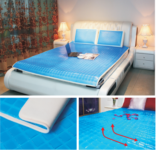 Summer use soft bedding cooling gel silicone mattress topper