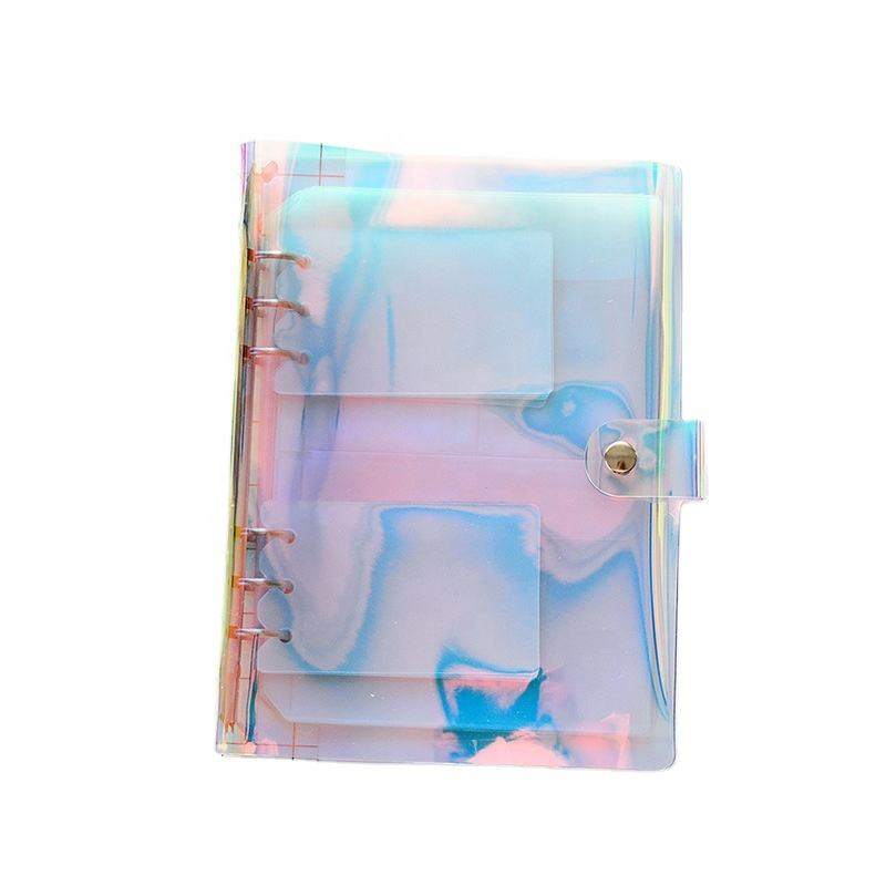 A5 A6 Laser Transparent PVC Inner Sheets Pockets Album Holder for Photo Album Scrapbook Props Stickers Storage Pockets Album