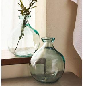 Recycled glass balloon vase 100% raw-shaped irregular tabletop glass vases