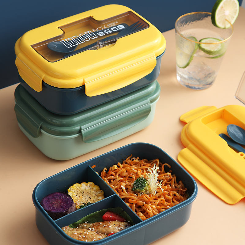 PP Adult Portable Microwaveable Airtight Lunch Box Student Sealed Lunch Box Office Worker Food Warmer Lunch Box Plastic
