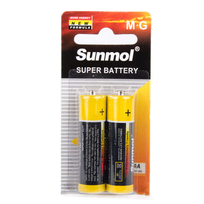 R6p [ Battery Aa R6p Um3 ] Aa 2 Years Shelf Life OEM Brand 1.5V Carbon Zinc Battery Aa R6 / R6p Battery Um3 No - Rechargeable Battery