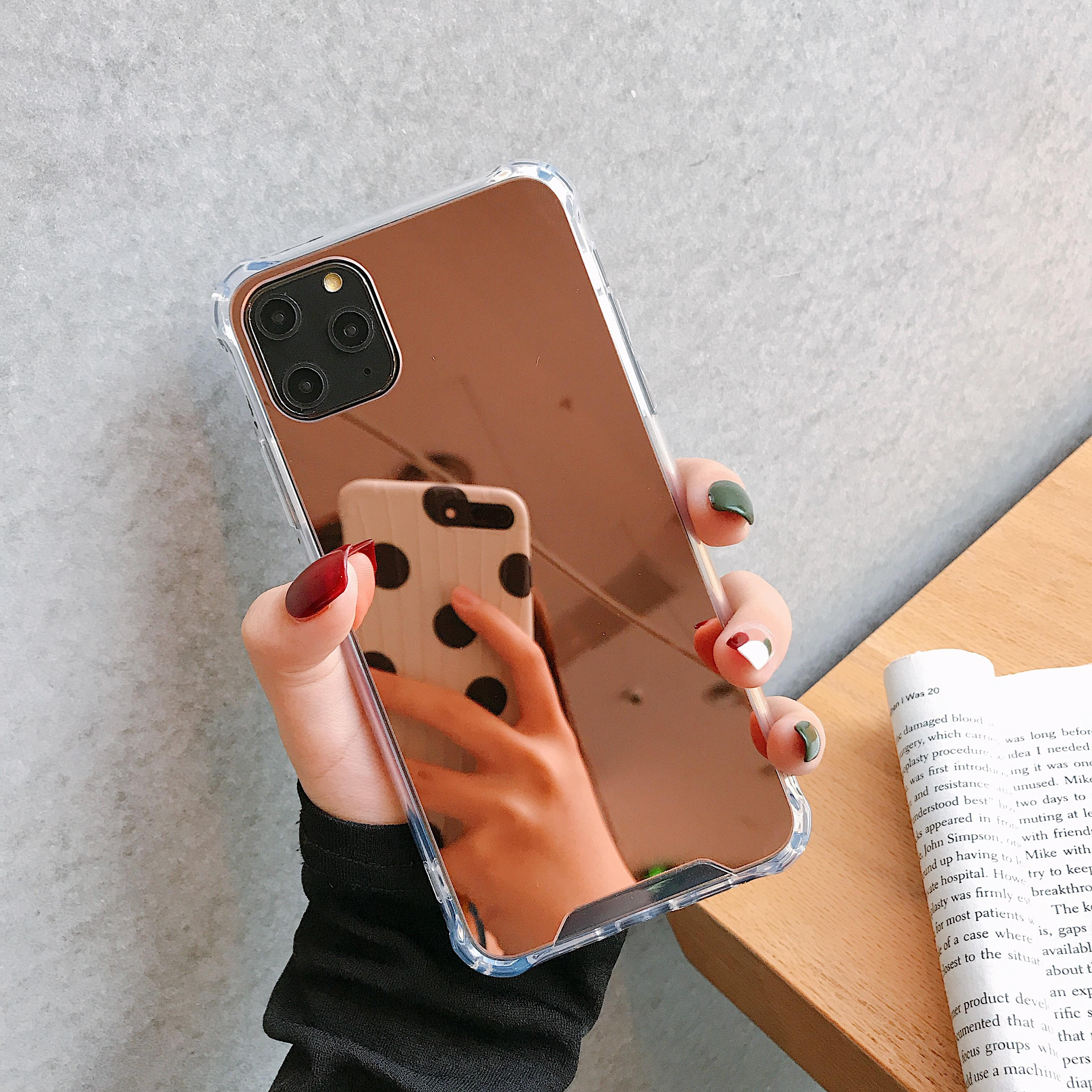 Luxury Plating TPU Mirror Phone Case Cover For iPhone 12 Case Silicon For iPhone 11 Case
