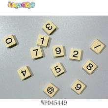 OEM educational spell words game sale in bulk number and letter tiles plastic craft crossword tiles
