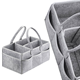 Factory Direct Wholesale gray felt diaper bag tote bag organizer felt baby diaper diaper caddy organiser portable felt